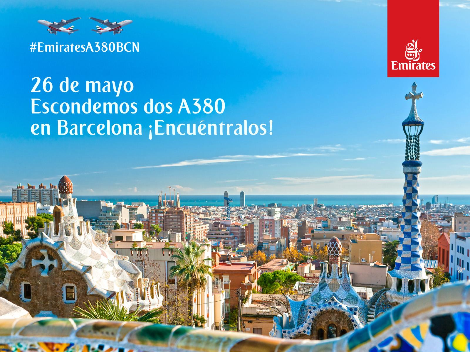 Emirates A380 hunt Barcelona