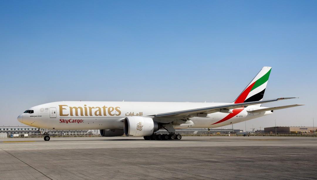 Avión de carga de Emirates
