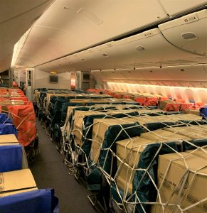 Completes one year of seat and bin loading of cargo