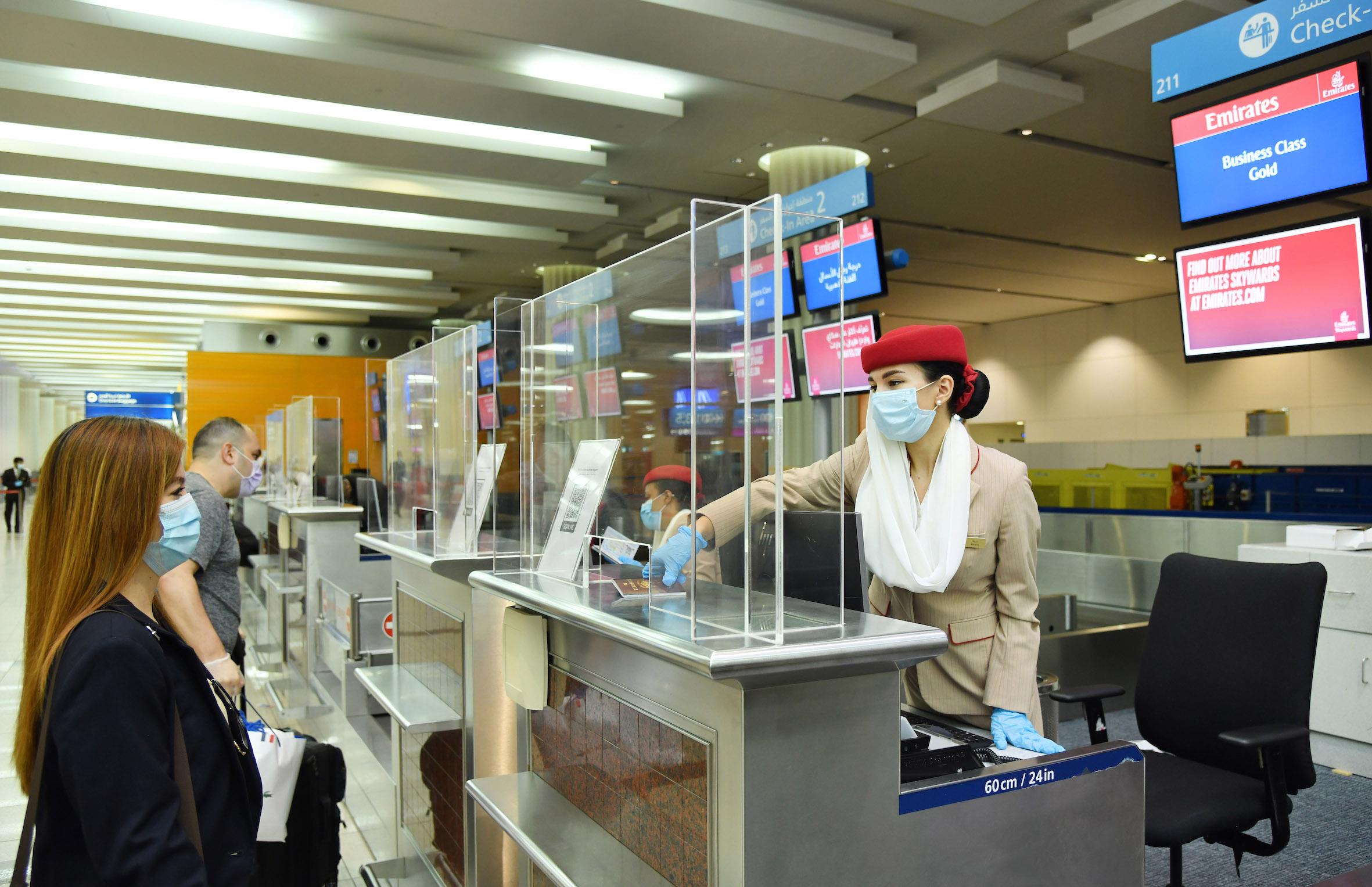 Emirates Check in desk Dubai Airport