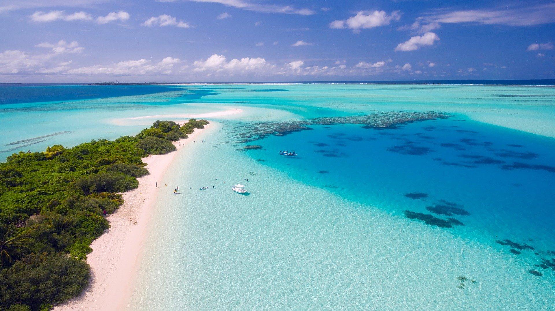 Vista aérea Maldivas